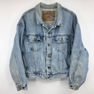 Vintage Levi's Denim Jean Trucker Mens Jacket L